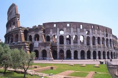 Concrete Roman Colosseum