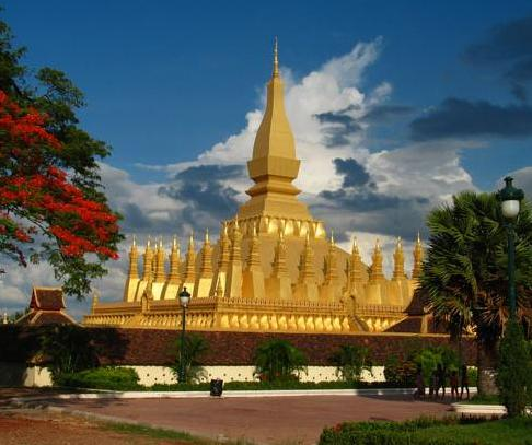 Golden Stupa in Vientiane, Laos
