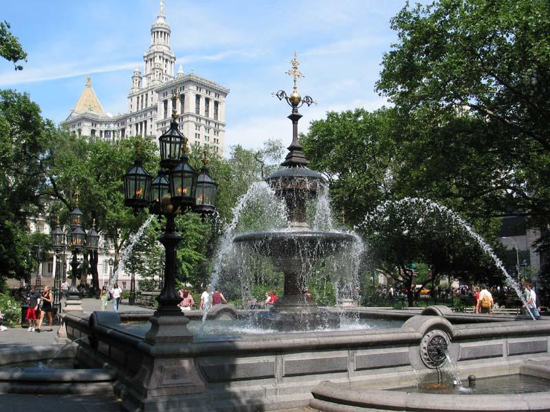 New York City Hall Park Fountain, New York