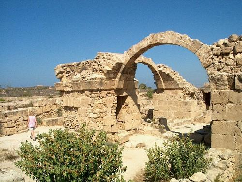 Saranta Kolones ruins Paphos, Cyprus